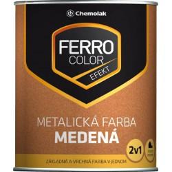Ferro color metalická medená 0,75L