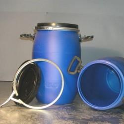 Sud na vodu modrý + uši + vrchnák 60L
