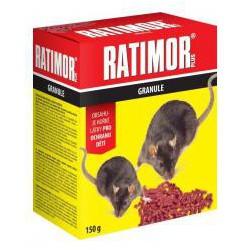 RATIMOR PLUS Granule na myši a potkany 150g